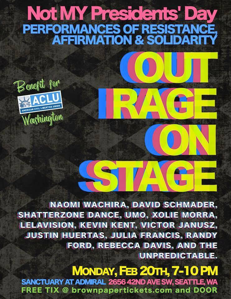 Seattle. WA - Out Rage on Stage Poster